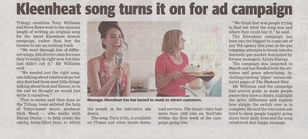 Kleenheat article West Australian